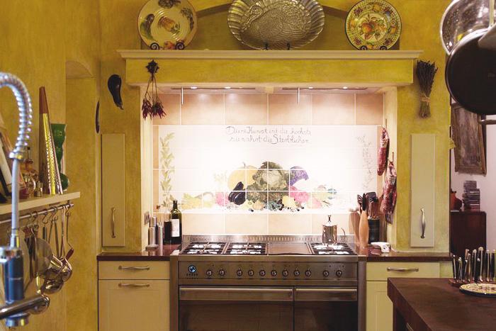 Die Von Architekt Alexander Bandlow Betreute Wohlfühlküche Vermischt  Amerikanisches Landhaus Mit Edelstahl. Spezielle Wandoberflächen Mit  Individueller ...